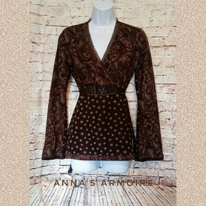 ANAC By Kimi Long Sleeve Top Size S